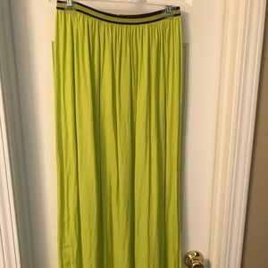Lime green Old Navy maxi skirt